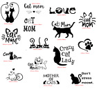 Cat Mom Crazy Decal Car Sticker Transfer Home Wall Decoration