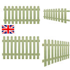 Wooden Green Picket Garden Gate Patio Fencing Durable fence 60/80/100/120 cm UK