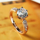 925 Sterling Silver Diamond Ring Ladies Jewelry Engagement Wedding Size 6-10