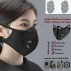 Reusable Protective Face Mask Breathable Mouth Covers With Filter Pads Us