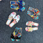 Chic Canvas Leather Slide Slippers Camouflage Print Sandals Beach Women Shoes