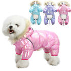 Reflective Dog Jumpsuit Waterproof Winter Clothes Small Dogs Warm Hooded Coat