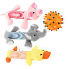 Pet Puppy Chew Squeaker Squeaky Plush Sound Pig Elephant Duck Ball For Dog #K