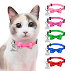 Cute Breakaway Cat Collars Personalized Name Tag  Bell Quick Release Puppy Dogs