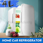 Mini 4L Cooler Cube Fridge Car Travel 12V Refrigerator Freezer Truck w/US Plug