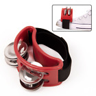 Foot Tambourine Percussion Jingle Shaker Musical Instrument Bells
