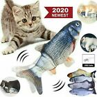 12' Electric Moving Cat Kicker Fish Toy Realistic Flopping Fish Wiggle Toys US