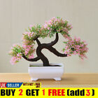 Bonsai Artificial Simulation Plant Decor Fake Potted Tree Home Pine Office Green