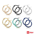 1 Pair Hoop Earrings Surgical Steel Smooth Round Ear Studs Fashion Jewellery