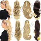 US Claw Clip in Ponytail Extension Long Curly Wavy Pony Tail Jaw Hair Extensions