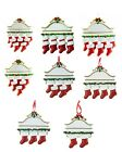 Personalised Christmas Tree Deco Ornaments White Mantle Fireplace 3-9 Members