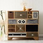 Artisan TV Stand Coffee Table Drawer Chest Metal Wood Living Room Furniture