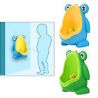 Frog Little Boys Pee Toilet Potty Urinal 2 to 6 Years Super Suction Cup