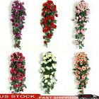 8ft Garland Wall Silk Artificial Hanging Rose Flowers Vine Wedding Party Decor