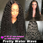 THICK 150% Curly Brazilian Virgin Human Hair 360 Lace Front Wigs Curly Black P51