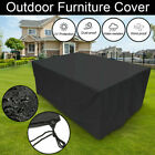 Waterproof Rattan Table Cube Seat Outdoor Garden Patio Furniture Cover Large