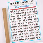 Piano Chords Chart Key Graphic Music Poster Stave for Beginner Practice Exercise