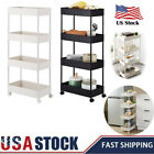 4-Tier Rolling Cart With Wheels For Kitchen Trolley Bathroom Storage Rack Stand