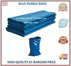 Rubble Bags Sacks Blue Heavy Duty Strong Tough Builders Rubbish Waste Bags Bulk