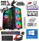 Fast Gaming Pc Bundle Computer  I3 I5 I7 Pc 2tb +ssd 16gb Ram Gtx 1660 Window10