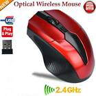 2.4GHz Cordless Wireless Optical Mouse Mice Laptop PC Computer  USB Receiver .u