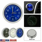 Pocket Mini Car Dashboard Air Vent Stick-On Clock Quartz Analog Home Watch USA