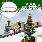 Lights And Sounds Christmas Retro Train Set Railway Tracks Toys Xmas Best Gift