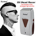 Kemei Electric Hair Clippers Trimmer Bald Head Dual Foil Twin Blade Men's Shaver