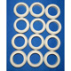 Valley Bumper Pool Table Bumper Post Rubber Rings - Set of 12