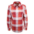 Harley-Davidson Women's 1903 Eagle Red Grey Plaid L/S Woven Shirt S11