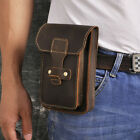 Real Leather Men Casual Design Small Pouch Fashion Hook Fanny Waist Belt Pack