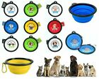 Personalised Dog Collapsible Feeding Bowl Travel Portable Silicone Water Dish