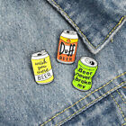 Creative Enamel Beer Can Pins Personalized Backpack Clothes Brooch Lapel Pins