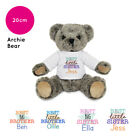 Personalised Name Presents for Little Big Best Sister Brother Archie Teddy Bear