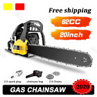 2 Cycle Guide Board Chainsaw Gasoline Powered Handheld Chain Saw 58CC / h 25