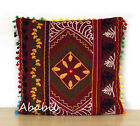 "24"" Square Suzani Cushion Cover 18"" Embroidery Pillowcase 16"" Pillow Cover D6"