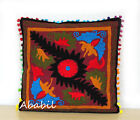 "24"" Square Suzani Cushion Cover 18"" Embroidery Pillowcase 16"" Pillow Cover D11"