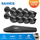 'Sannce Cctv 4/8ch Dvr 1080p 5in1 Outdoor Home Surveillance Security System Night