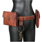 Medieval PU Leather Steampunk Waist Bag Knight Antique Accessory Cosplay Adult