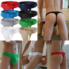 8 PACK Men's Briefs Underwear Elephant Nose Ice Silk Underpants Thongs G-strings