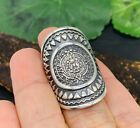 Aztec Tribal Taxco Mexican 925 Sterling Silver Ring Sizes 6, 6.5 Mexico - NEW