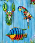Colorful Tropical Sea Metal Wall Mounted Art Sculpture Indoor Outdoor Home Decor