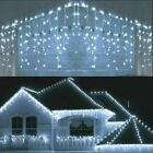 LED+Icicle+Curtain+String+Lights+Lamps+Christmas+Wedding+Party+Indoor+Outdoor