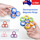 Magnetic Rings Fingears Anti-stress Finger Toy Rotating Magnetic Ring Au 3pc/set