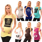 New Ladies Printed Maternity T-Shirts Tops Pregnancy Designs, Sizes, Colours