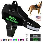 Personalized Reflective Glowing Dog Harness Vest With Handle For Outdoor Walking