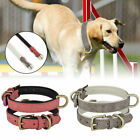 Quality Leather Adjustable Pet Dog Collar Metal Buckle Soft Padded Puppy S/M/L