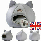 UK Large Cat Bed Cave Small Wool Cozy Pet Igloo Bed Winter House Nest Kennel