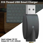 1X Thread USB Charger Fast Charging Overcharge Protection for eGo 510 CBD Series
