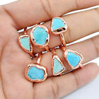Wholesale Natural Raw Turquoise Beautiful Gemstone Engagement Ring Jewelry 1 Pc